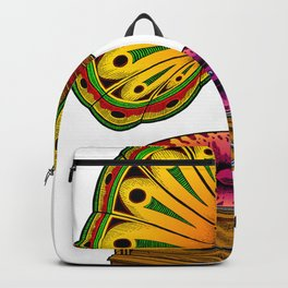 Psychedelic Gramophone Record Player Backpack