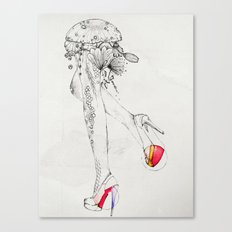 flora feet Canvas Print