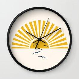 Minimalistic Summer I Wall Clock