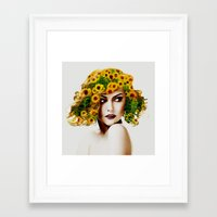 sunflowers Framed Art Prints featuring Sunflowers by EclipseLio