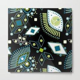 Ethnic pattern . Eyes . Metal Print