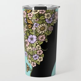 Floral Lady Travel Mug