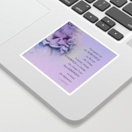 Serenity Prayer Hydrangeas Harmony Lavender Sticker