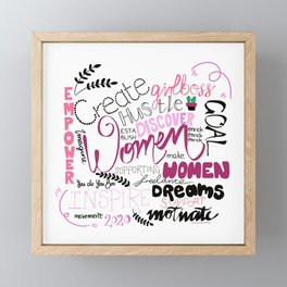 Female Entrepreneur Girlboss Framed Mini Art Print