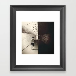 Exit Is Near Framed Art Print