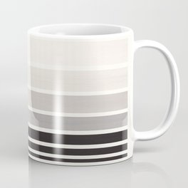 Grey Minimalist Watercolor Mid Century Staggered Stripes Rothko Color Block Geometric Art Coffee Mug