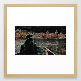Women on River Framed Art Print
