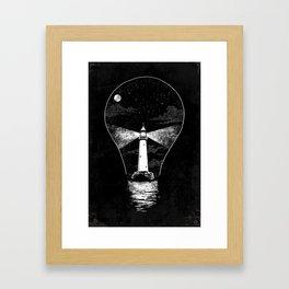 Light (Bulb) House Framed Art Print