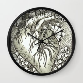 The Anatomical Heart- Organs and Herbs series Wall Clock