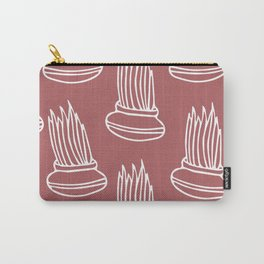 Lemongrass in Pots 2 - White on Rose Carry-All Pouch