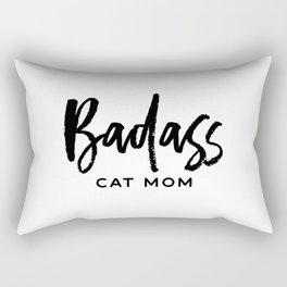 Badass cat mom Rectangular Pillow