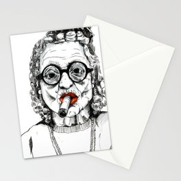 Woman with Cigar Stationery Cards
