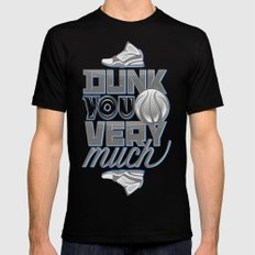 Dunk you very much Black Mens Fitted Tee SMALL