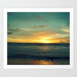 Kuta Bali Beach Sunset Art Print