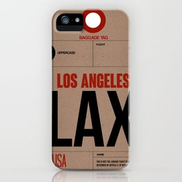 LAX Los Angeles Luggage Tag 1 iPhone Case