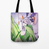 tina fey Tote Bags featuring Little Fey Dragon by phoenixoftheashes