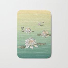 Drifting Water Lilies Bath Mat