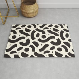Macaroni Sky Black and White Rug
