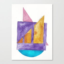 180818 Geometrical Watercolour 2| Colorful Abstract | Modern Watercolor Art Canvas Print