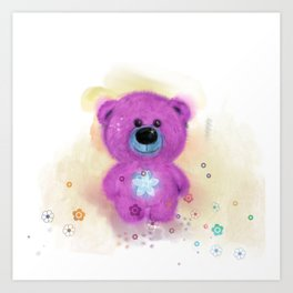 Flo Bear  (home decor) Art Print