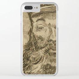 Portrait of Joseph Roulin 2 Clear iPhone Case