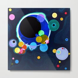 Wassily Kandinsky Circles Metal Print