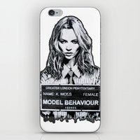 kate moss iPhone & iPod Skins featuring Kate Moss by Merlin Dobaryan