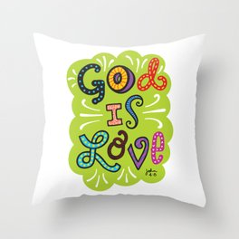 God is Love Color Throw Pillow