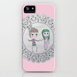 Cute couples iPhone Case