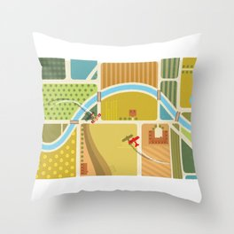 from above in the skies of Picardy Throw Pillow