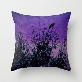 Raven Sentinel Throw Pillow