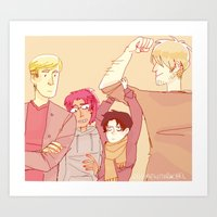 snk Art Prints featuring SNK Buddies by rhymewithrachel