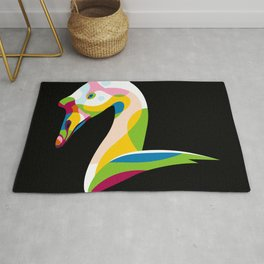 Colorful Goose Rug