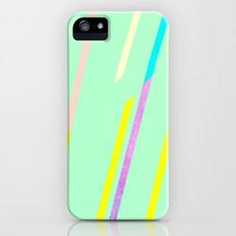 fresh thin strips / neon iPhone Case