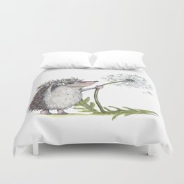 Hedgehog & Dandelion Duvet Cover