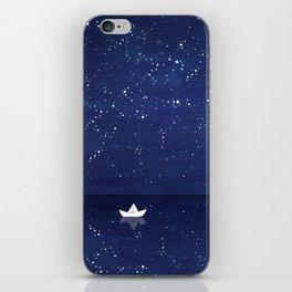 Zen sailing, ocean, stars iPhone Skin