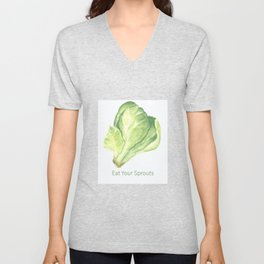 Eat Your Sprouts Unisex V-Neck