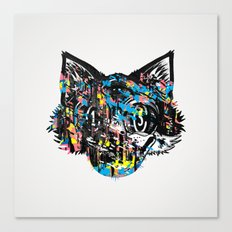 The Creative Cat (color varient) Canvas Print
