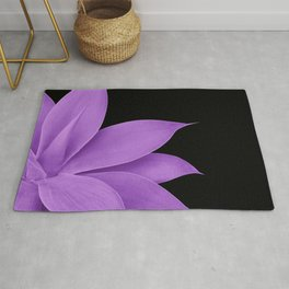 Agave Finesse #10 - Purple on Black #tropical #decor #art #society6 Rug