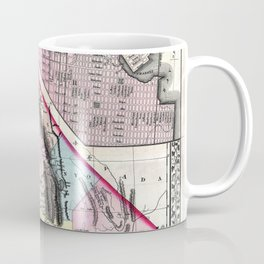 1872 Map of California and San Francisco Coffee Mug