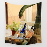 wine Wall Tapestries featuring Wine Cooler  by Phil Smyth