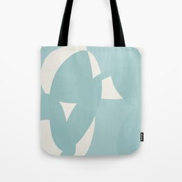 Abstract in dusty light blue and neutral shades Tote Bag