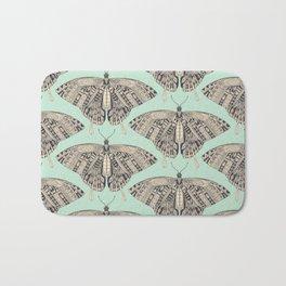 swallowtail butterfly mint basalt Bath Mat