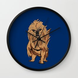 griffon dog Wall Clock