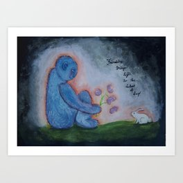 Friendship brings Light Art Print