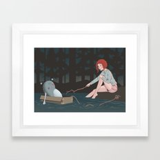 Night time adventures Framed Art Print