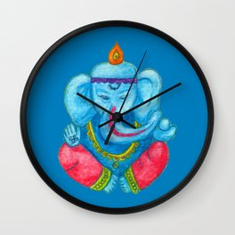Ganesh pencil watercolours Wall Clock