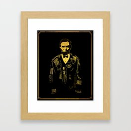 Lincoln Was Punk  Framed Art Print