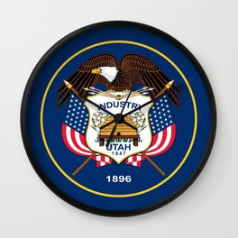 Utah State Flag - Authentic Version Wall Clock