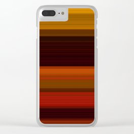 Fall Harvest Stripes Clear iPhone Case